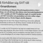 Här kan du läsa den spridda texten från SVT:s intranät i sin helhet.